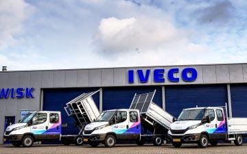 IJmond werkt! - 3 x Iveco Daily 35s12 + Twisk kieper